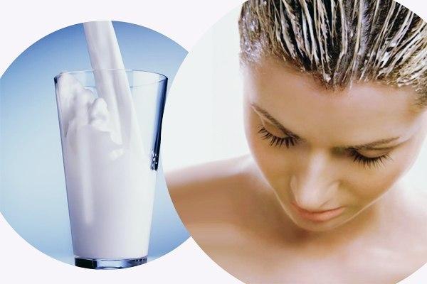 Кефир  лучшее средство для восстановления волос