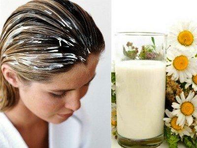 Маска для волос с кефиром в домашних