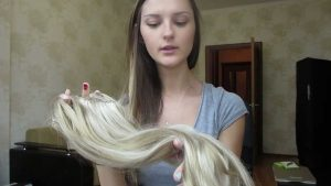 Наращивание волос на заколках