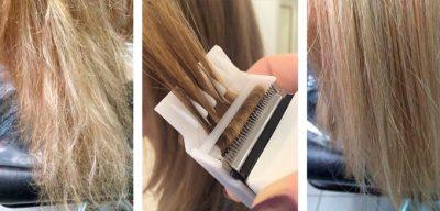 Как самостоятельно подстричь секущиеся кончики волос