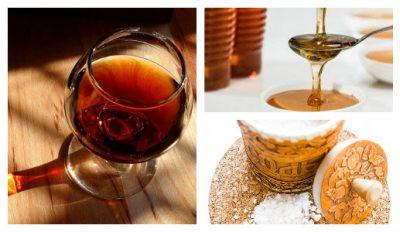 Маска для волос с коньяком, медом и солью, обычной или морской