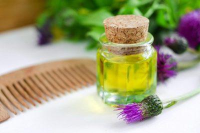 Укрепление волос репейным и касторовым маслом