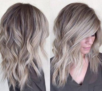 Пепельный цвет волос балаяж