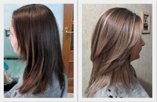 Брондирование волос на темные волосы (фото до и после)