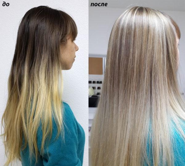 Можно ли на светлых волосах сделать мелирование