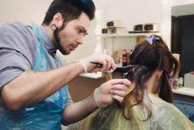 Венецианское мелирование на прямых волосах
