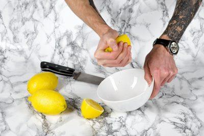 Сок лимона для волос