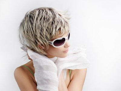 Женские стрижки на короткие волосы с мелированием