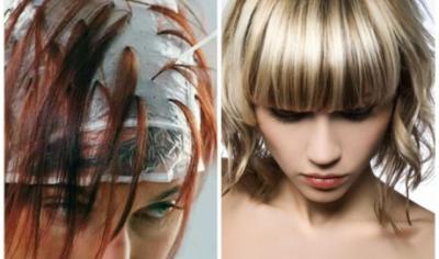 Покраска волос через шапочку