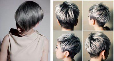 Мелирование пепельным цветом на короткие волосы