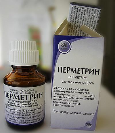 Препарат Перметрин против вшей