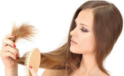 Сухие концы волос