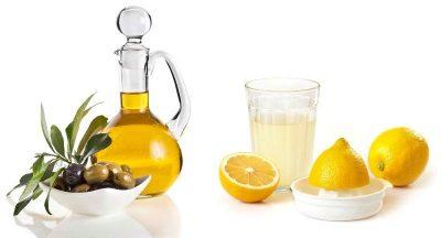 На основе масел и лимонного сока